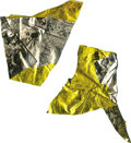 Explorers:Space Exploration, Two Small Pieces of Apollo 11 Flown Kapton Foil from Buzz Aldrin'sPersonal Collection. ... (Total: 2 Items)
