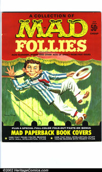 """Mad Follies #1 Gaines File pedigree (EC, 1970). Small piece of tape (approximately 1.5"""" x 1"""") on cover. A phot..."""