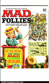 Mad Follies #2 Gaines File pedigree (EC, 1964). A photo-certificate attesting to the Gaines File pedigree will be issued...