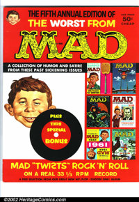 Worst From Mad #5 Gaines File pedigree (EC, 1962). Great bonus insert for this issue. It is a Mad rock and roll parody r...