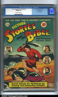 Picture Stories from the Bible #2: Old Testament Edition Gaines File pedigree (EC, 1942). A near-perfect copy that would...