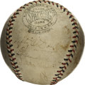 Autographs:Baseballs, 1931 Brooklyn Dodgers Team Signed Baseball. The Brooklyn majorleague franchise was known as the Robins from 1914-31, winni...