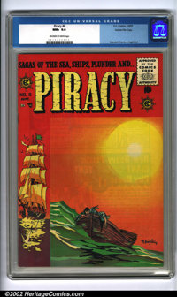 Piracy #6 Gaines File pedigree 12/12 (EC, 1955). Rich reds and yellows make this spectacular cover by Bernard Krigstein...