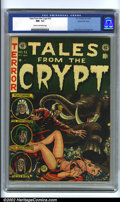 Golden Age (1938-1955):Science Fiction, Tales From the Crypt #32 Gaines File copy (EC, 1952). Featuring aclassic Jack Davis cheesecake cover capturing a perilous m...
