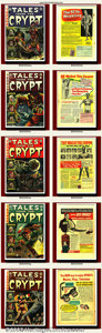 Golden Age (1938-1955):Science Fiction, Tales From the Crypt Group Lot (EC, 1953-1955). Dramatic covers andexcellent artwork made Tales From the Crypt the best... (Total: 8Item)