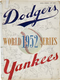 Autographs:Others, 1952 World Series Program Signed Twice by Johnny Mize. 1952 markedyet another all-New York Fall Classic as the Brooklyn Do...