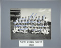 Autographs:Photos, 1969 New York Mets Team Signed Photograph. Perfect 10 signaturesfrom the members of the 1969 Miracle Mets appear here on t...