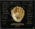 Baseball Collectibles:Others, Gold Glove Winners Lithograph Signed by 34. Awarded each year tothe top fielder at each position, the Gold Glove Award has...