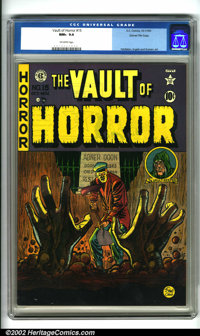 Vault of Horror #15 Gaines File pedigree 7/10 (EC, 1950). The fourth issue of this horror standard with cover art by Joh...