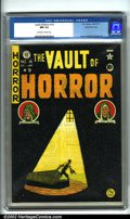 Golden Age (1938-1955):Horror, Vault of Horror #16 Gaines File pedigree 8/11 (EC, 1950). Thisissue is highlighted by Johnny Craig's evocative cover, argua...