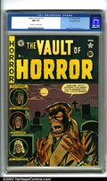 Golden Age (1938-1955):Horror, Vault of Horror #17 Gaines File pedigree 8/11 (EC, 1951). Thisissue sports a haunting Johnny Craig werewolf cover, as well ...
