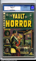 Golden Age (1938-1955):Horror, Vault of Horror #18 Gaines File pedigree 9/12 (EC, 1951). Wow! Thisis one incredible comic book. One expects superlative ar...
