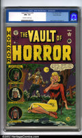 Golden Age (1938-1955):Horror, Vault of Horror #19 Gaines File pedigree 4/12 (EC, 1951). The ECsense of irony is masterful. Here on Johnny Craig's cover, ...