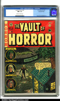 Golden Age (1938-1955):Horror, Vault of Horror #21 Gaines File pedigree 4/12 (EC, 1951). In aparticularly grisly cover by Johnny Craig, the remains of a p...