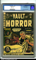 Golden Age (1938-1955):Horror, Vault of Horror #24 Gaines File pedigree 9/12 (EC, 1952). In thisissue, Johnny Craig not only drew the cover, but his biogr...