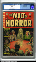 Golden Age (1938-1955):Horror, Vault of Horror #25 Gaines File pedigree 9/12 (EC, 1952). Thisissue features one of the more popular Johnny Craig covers. G...