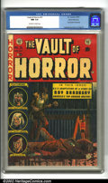 Golden Age (1938-1955):Horror, Vault of Horror #31 Gaines File pedigree 4/12 (EC, 1953). Aparticularly disturbing cover by Johnny Craig depicts an assassi...
