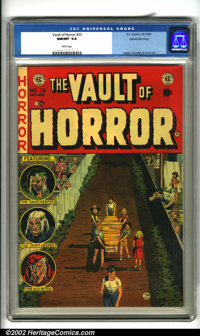 Vault of Horror #33 Gaines File pedigree 8/11 (EC, 1953). An exquisite copy in virtually flawless condition with bright...
