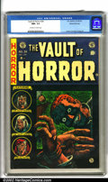 Golden Age (1938-1955):Horror, Vault of Horror #34 Gaines File pedigree 9/12 (EC, 1954). A bizarreJohnny Craig cover sets the tone for this ghoulish issue...