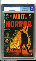Golden Age (1938-1955):Horror, Vault of Horror #36 Gaines File pedigree 9/12 (EC, 1954). JohnnyCraig's cover for this issue shows us a murderer, lead pipe...