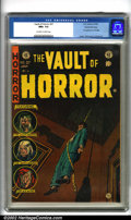 Golden Age (1938-1955):Horror, Vault of Horror #37 Gaines File pedigree 9/12 (EC, 1954). Thedramatic Johnny Craig cover of a garroted man begs the questio...