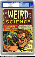 Golden Age (1938-1955):Science Fiction, Weird Science #12 (#1) Gaines File pedigree 6/9 (EC, 1950). Thefirst issue of this classic book sports a great Feldstein co...