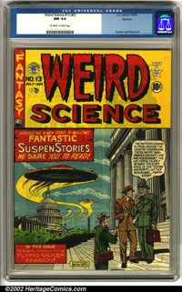Weird Science #13 (#2) Spokane pedigree (EC, 1950). Absolutely stunning copy of this classic EC title, from the highly-r...