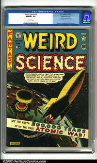 Weird Science #5 Gaines File pedigree 7/10 (EC, 1951). One of Feldstein's top classic EC sci-fi covers which features an...