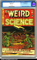 Golden Age (1938-1955):Science Fiction, Weird Science #6 Gaines File pedigree 7/10 (EC, 1951). A fantasticcover by Al Feldstein depicting some of the most bizarre ...
