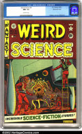 Golden Age (1938-1955):Science Fiction, Weird Science #8 Gaines File pedigree 9/12 (EC, 1951). A real'50s-type sci-fi cover by Al Feldstein with interior art by Ja...