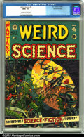 Golden Age (1938-1955):Science Fiction, Weird Science #9 Gaines File pedigree 9/12 (EC, 1951). The alienslook like they could be in real trouble in this issue. Wal...
