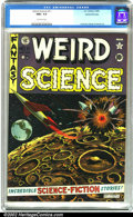 Golden Age (1938-1955):Science Fiction, Weird Science #11 Gaines File pedigree 9/12 (EC, 1952). A stunningexample of a classic title...and it's from the legendary ...