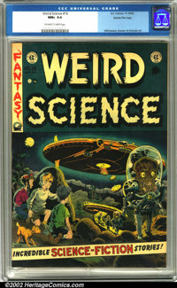 Weird Science #16 Gaines File pedigree 8/11 (EC, 1952). If you want to know where Mars Attacks came from, just look at...