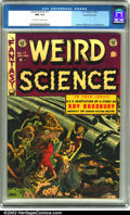 Golden Age (1938-1955):Science Fiction, Weird Science #17 Gaines File pedigree 6/9 (EC, 1953). Anotherkiller-alien cover done by the incredible Wally Wood graces t...