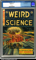 Golden Age (1938-1955):Horror, Weird Science #18 Gaines File pedigree 9/12 (EC, 1953). A greatH-bomb cover by Wally Wood and interior artwork by Jack Kame...