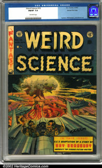 Weird Science #18 Gaines File pedigree 9/12 (EC, 1953). A great H-bomb cover by Wally Wood and interior artwork by Jack...