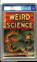 Golden Age (1938-1955):Science Fiction, Weird Science #21 Gaines File pedigree 8/11 (EC, 1953). Unrealcover art by Wally Wood sums up 1950s sci-fi comics: a guy wi...