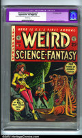 Golden Age (1938-1955):Science Fiction, Weird Science-Fantasy Annual #1 (EC, 1952). Every year, EC took allof their unsold comics, designed a new cover, rebound th...