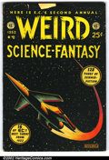 """Golden Age (1938-1955):Science Fiction, Weird Science-Fantasy Annual #2 (EC, 1953). Nice reading copy ofthe second Weird Science-Fantasy Annual. 1"""" x .5"""" piece..."""