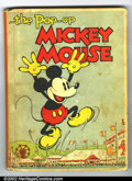Platinum Age (1897-1937):Miscellaneous, Pop-Up Mickey Mouse Hardback (Blue Ribbon Books, 1933). A very rareDisney book which was published in 1933 by Disney Studio...
