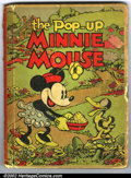 Platinum Age (1897-1937):Miscellaneous, Pop-Up Minnie Mouse Hardback (Blue Ribbon Books, 1933). A very rarebook which was put out by Disney in 1933. This book is b...