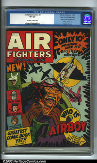 Air Fighters Comics #2 Mile High pedigree (Hillman Fall, 1942). Finding the opportunity to purchase the Mile High copy o...
