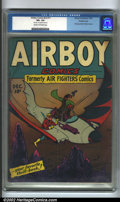 Golden Age (1938-1955):Adventure, Airboy Comics vol. 2 #11 Double cover (Hillman, 1945). A sometimes overlooked title, Airboy has long attracted an underg...