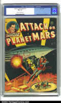 """Golden Age (1938-1955):Science Fiction, Attack on Planet Mars (Avon, 1951). A super cool sci-fi comic fromthe Avon """"one-shot"""" series with interior art by Wally Woo..."""