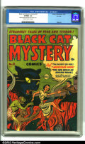 Golden Age (1938-1955):Horror, Black Cat Mystery #31 File Copy (Harvey, 1952). Formerly asuperhero book, Black Cat Mystery shifted gears into tales of...