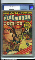 Golden Age (1938-1955):Adventure, Blue Ribbon #2 Hawkeye pedigree (MLJ, 1939). Before Archie came along, MLJ was mainly an action/adventure and superhero publ...