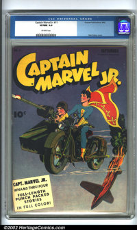 Captain Marvel Jr #11 (Fawcett, 1943). Fawcett was lucky enough to land one of the most talented artists in the business...