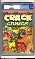 Golden Age (1938-1955):War, Crack Comics #14 Cosmic Aeroplane pedigree (Quality, 1941).Featuring Lou Fine's Black Condor, early issues of Crack are...
