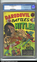 Golden Age (1938-1955):Superhero, Daredevil Comics #1 (Lev Gleason, 1941). A classic Golden Age book featuring a unique photo-cover of Hitler getting it in th...