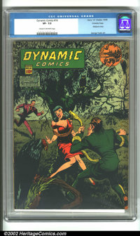 Dynamic Comics #16 Crowley pedigree (Chesler, 1945). A truly classic issue with a great bondage cover and an early marij...